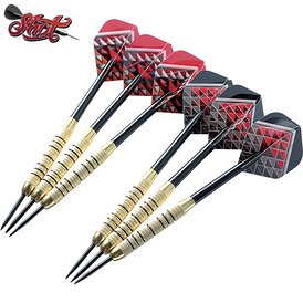 Shot Steel Dart Geschenkeset Doppel Dart Set Messing...
