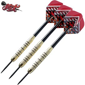 Shot Steel Dart Geschenkeset Solo Dart Set Messing Brass...