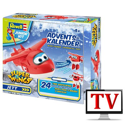 Revell Adventskalender 2019 Super Wings Jett Transformer Junior Kit 01024