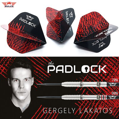 BULLS NL Powerflite Gergely Lakatos The Padlock Dart Flight