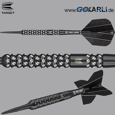 Target Steel Darts Rob Cross Pixel Black 90% Tungsten 2019 Steeltip Darts Steeldart & Rob Cross Flight & Pro Grip Shafts & GOKarli Flights