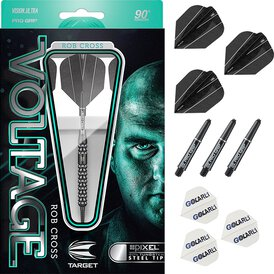 Target Steel Darts Rob Cross Pixel Black 90% Tungsten...