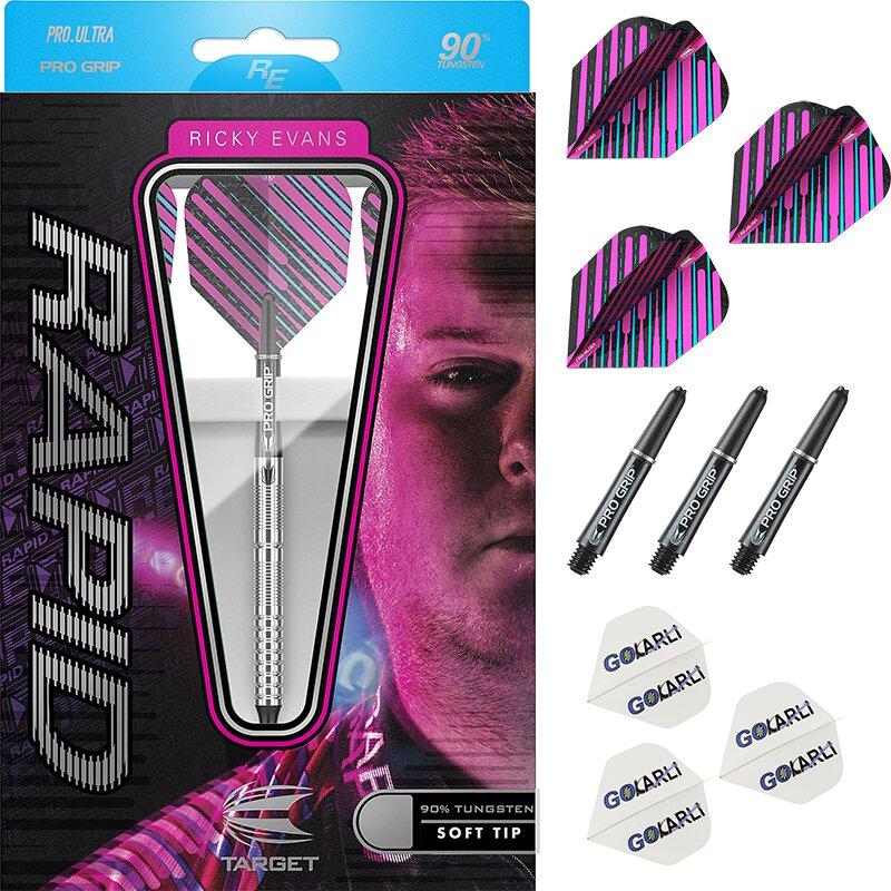 Short 6-Shafts 2-Sets Super-Grip Purple Dart Shafts