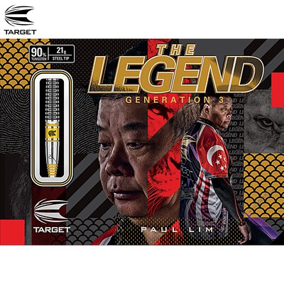 Target Steel Darts Paul Lim Legend G3 Generation 3 90% Japan 2019 Steeltip Darts Steeldart & Paul Lim G3 Flight & Pro Grip Shafts 110794 & GOKarli Flights 21 g