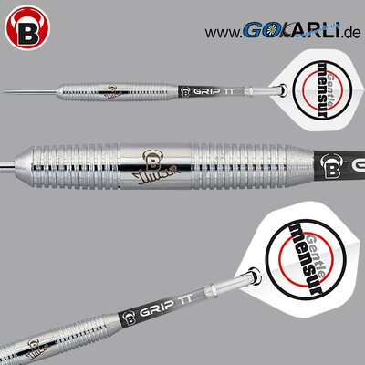 BULLS Steel Darts Mensur Suljovic Team Player Silver Tungsten Look Steeldart Steeltip