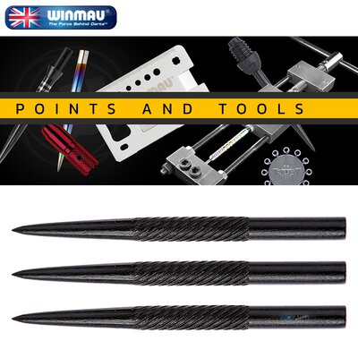 Winmau Steel Tip Spiral Black Points Wechsel- Spitzen Dart Point 32 mm