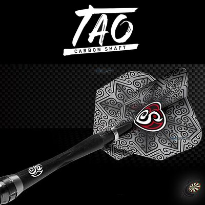 Shot Dart Shafts TAO Carbon mit Federring in verschiedenen Designs