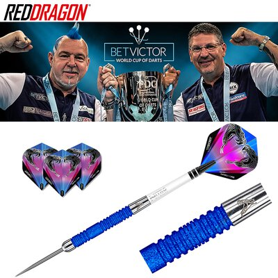 Red Dragon Steel Darts Peter Wright Snakebite Euro 11 Blue Element World Cup SE Steeltip Dart Steeldart 24 g
