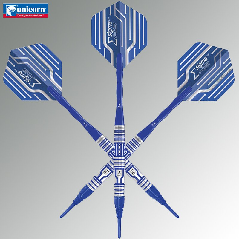 Unicorn Steel Darts Sigma HS Blue Titanium Steeltip Dart Steeldart 2019 2020