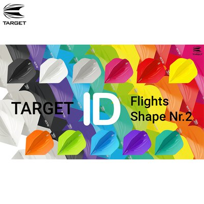 Target ID Pro Ultra Dart Flight in 11 Farben Flightform / Shape Nr.2 Design 2019