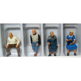 Zuschauer sitzend Preiser Figuren 1:43 65351