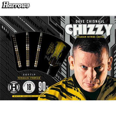 Harrows Soft Darts Dave Chisnall Chizzy 90% Tungsten Softtip Dart Softdart