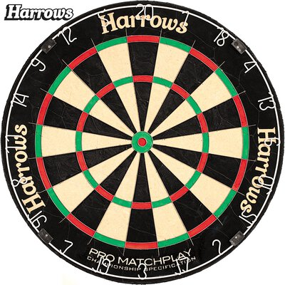 Harrows Pro Matchplay Bristle Dart Board Dartboard Turnierboard Dartscheibe