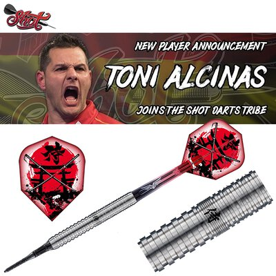 Shot Soft Darts Toni Alcinas The Samurai 80% Tungsten Softtip Darts Softdart