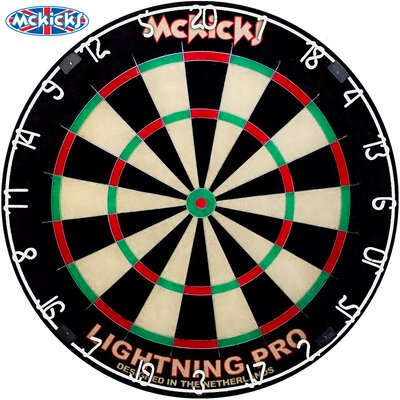 McKicks Lightning Pro Bristle Dart Board Dartboard Turnierboard Dartscheibe