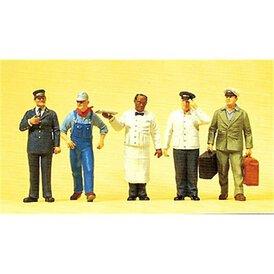 US-Bahnpersonal stehend Preiser Figuren 1:43 65355