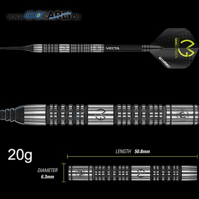 Winmau Soft Darts MvG Michael van Gerwen Absolute 90% Tungsten Softtip Dart Softdart 2020 22 g
