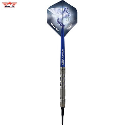BULLS NL Soft Darts Blue Pegasus Barrel B 95% Tungsten Softtip Darts Softdart 20 g