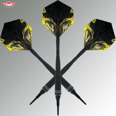 BULLS NL Soft Darts Smoke Gold 80% Tungsten Softtip Darts Softdart 18 g