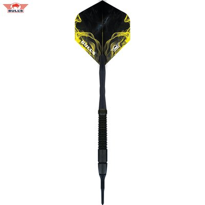 BULLS NL Soft Darts Smoke Black 80% Tungsten Softtip Darts Softdart 20 g