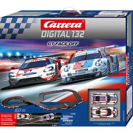 Carrera Digital 132 Rennbahn GT Face Off Set /...