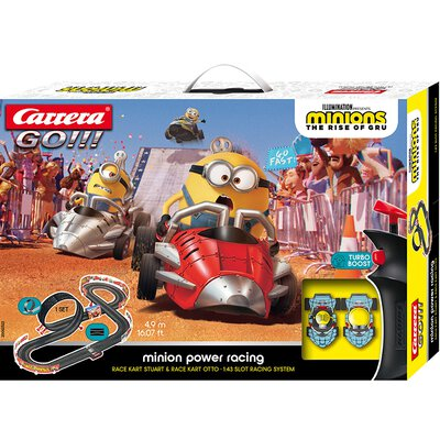Carrera GO!!! Rennbahn Minions Yellow Racing Set / Grundpackung 62523