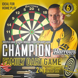 Harrows Dave Chisnall Chizzy Champion Family Dart Game...