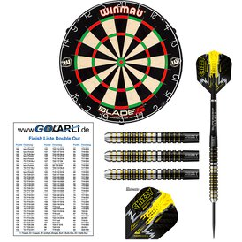 Winmau Blade 5 Bristle Dart Board & Harrows Dave Chisnall...