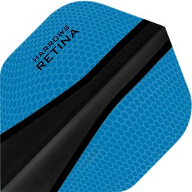 Harrows Retina X Dart Flight Nr.2 speziell laminiert Aqua...