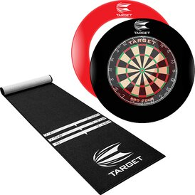Target Pro Tour Dartboard & Surround / Dart Catchring &...