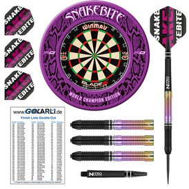 Winmau Blade 5 Bristle Dart Board & Peter Wright World...
