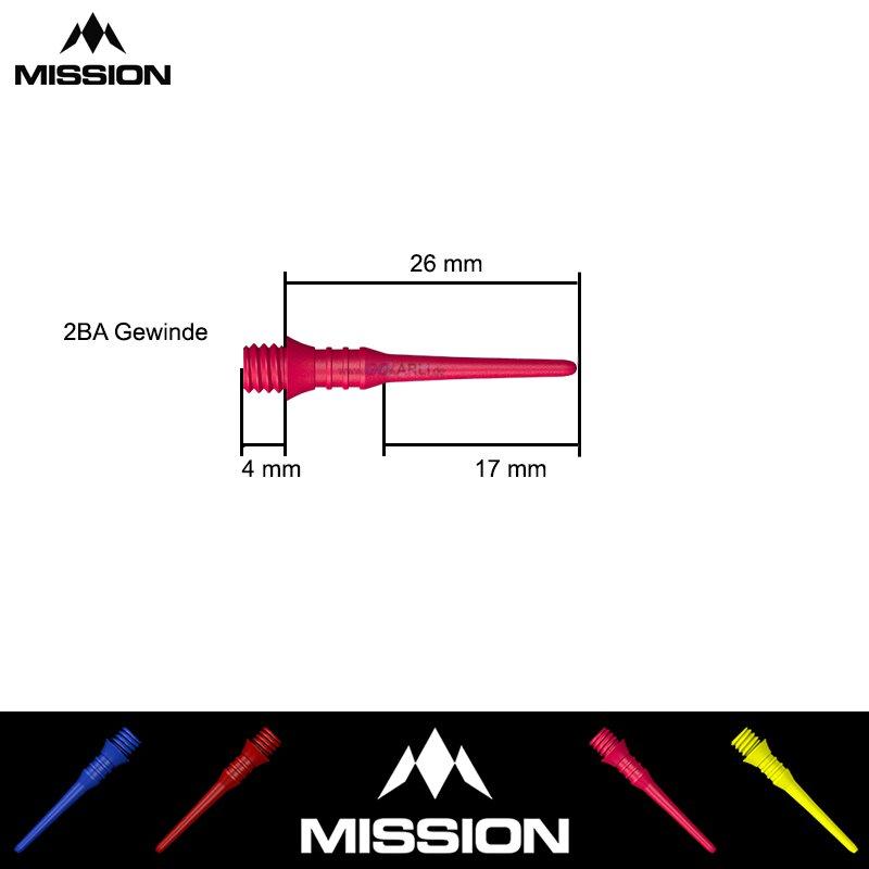 Mission Titan Pro Darttips Dartspitzen 50 Stück 2BA Grün