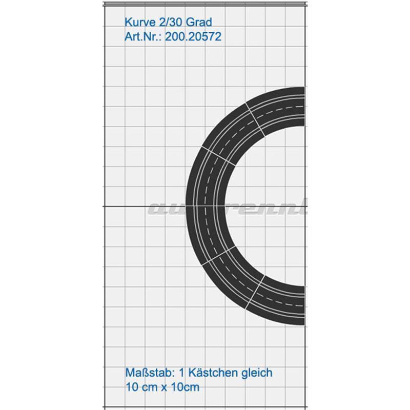 Carrera Digital 132 Evol Kurve 2//30° 1 Stück aus 20572 124