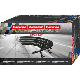 Carrera Digital 124//132 Evolution Endstücke Kurvenaußenrand breit 4 Stück 20598