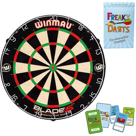Winmau Blade 5 Bristle Dart Board Dartboard mit Surround...