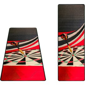 McKicks Dartmat Red Dartmatte Dartteppich Carpet Mat 65 x...