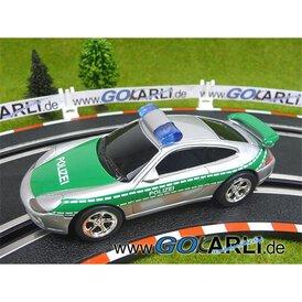 Carrera GO!!! / GO!!! Plus Porsche GT3 Polizei silber/grün