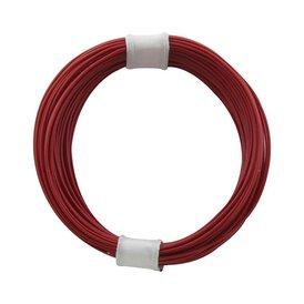 Kupferschalt Litze rot - extra dünn 0,04 mm 10m Ring