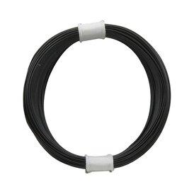 Kupferschalt Litze schwarz - extra dünn 0,04 mm 10m Ring...