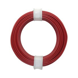 Kupferschalt Litze rot 0,14 mm 10m Ring