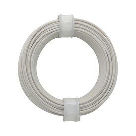 Kupferschalt Litze weiß 0,14 mm 10m Ring