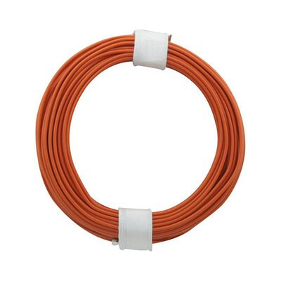 Kupferschalt Litze orange 0,14 mm 10m Ring