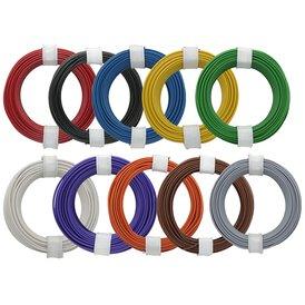 Kupferschalt Litze 0,14 mm² 10 Litzen verschiedene Farben...