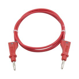 Messleitung Messkabel 4 mm Bananenstecker 1 m rot