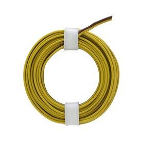 Zwillingslitze 0,14 mm gelb braun 5m Ring