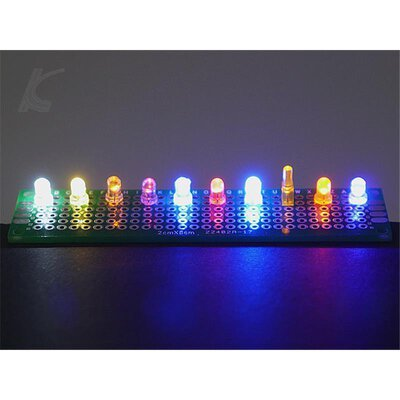Slotcarlicht Slotlight 2 LED 3 mm 2 x warmweiss 2 x rot 1 x blau