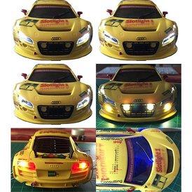 Slotcarlicht Slotlight 2 LED 3 mm 2 x gelb 2 x rot 1 x blau