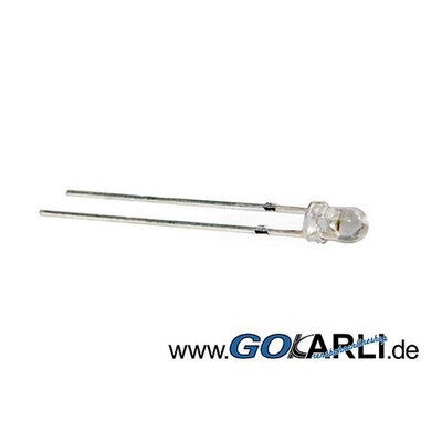2 Stueck 3mm LED Halogen warmweiss 8.000mcd 17 Grad 3.2V