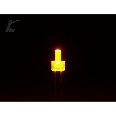 Slotcar Leuchtdiode LED 2 mm 2 Stueck gelb diffus fuer Auspuff Adernendhuelse 2 mm