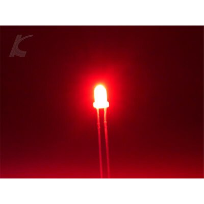 Slotcar Leuchtdiode LED 3 mm 1 Paar rot diffus
